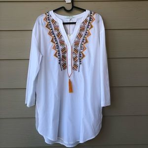 Romeo & Juliet Couture Beach  Embroidered Tunic